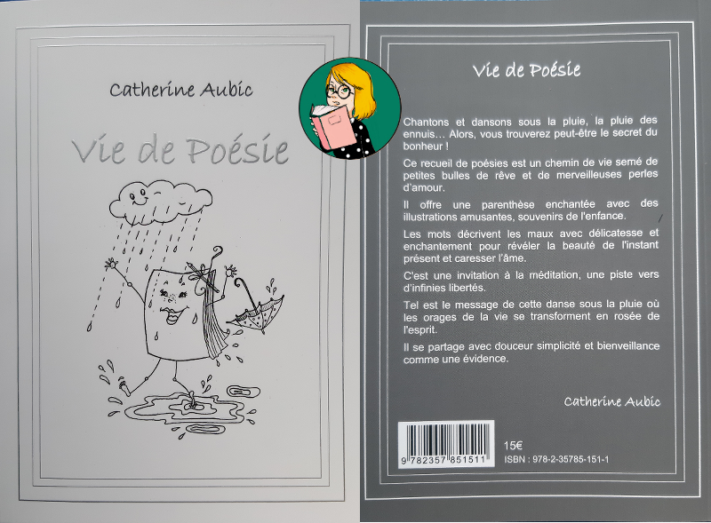 """Recueil """"Vie de poésie"""" de Catherine Aubic et illustré par Sylvie Fagegaltier"""