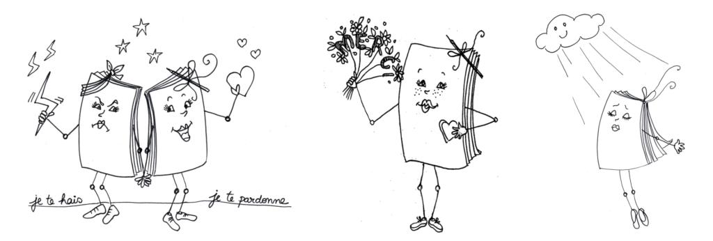 """Illustrations du recueil """"Vie de poésie"""" de Sylvie Fagegaltier et de Catherine Aubic"""